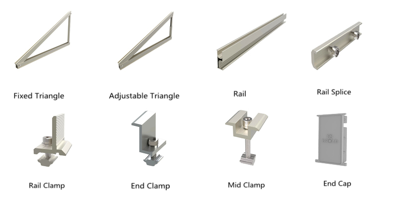 fixed and adjustable triangle structures